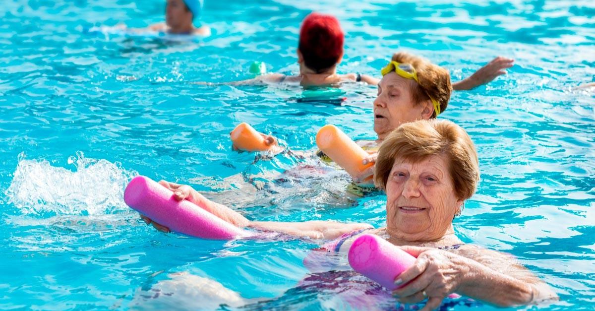 a vízi aerobik jótékony hatásai